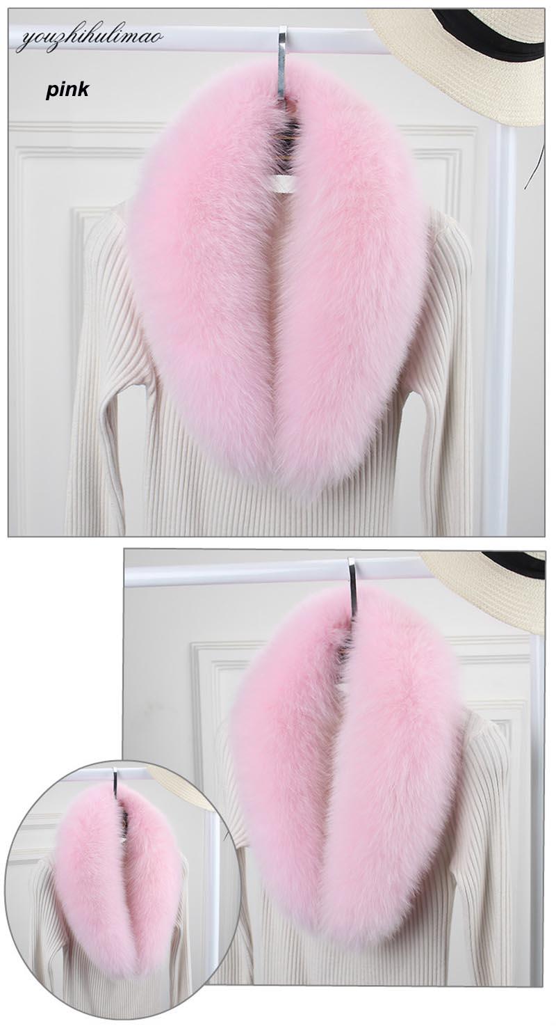 fox fur collar pink