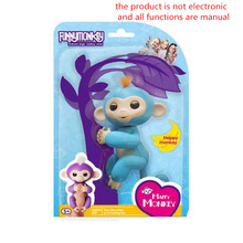 Pet shop colorful fingerlings baby monkey blink / voice / joint movement finger monkey juguetes kids toys anime christmas gifts
