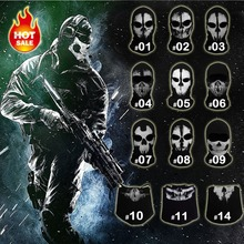 Original novo Crânio Do Fantasma Balaclava Skate Capuz Traje Cosplay Paintball Airsoft Tático Máscara Facial