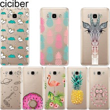 ciciber pineapple Unicorn Owl Giraffe soft case cover For samsung Galaxy S5 S6 S7 edge A3 A5 J5 J7 A310 A510 J510 J710 2016(China)