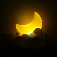 Moon Shape AC110-240v 0.5W LED Night light Remote Control Timing Energy-saving For Bathroom KTV Family Corridor MFBS