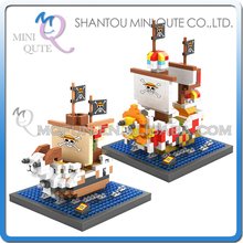 Mini Qute LOZ Anime One piece Going Merry Thousand Sunny ship plastic building cartoon model block educational toy - MINI QUTE PLASTIC BLOCKS & METAL PUZZLE WORLD store