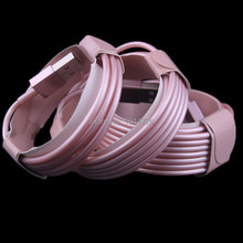 Wholesale price 500pcs/lot 2m 6FT 8pin rose gold color usb data sync charging cable cord for iphone 5 5s 6 6s for ipad mini