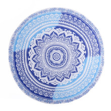 2017 Women Bikini Cover up beach Towels Femme Beach Round Tapestry Throw Towel Printed Yoga Mat Picnic Blanket Table colth May26(China)