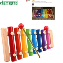 CHAMSGEND Children Baby Musical Toy Xylophone Wisdom Development Wooden Instrument improve Kid sensitive to colors sounds S30