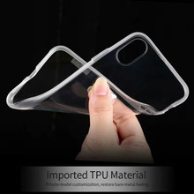 X-level Ultra-thin ice crystal clear case for Apple iphone X case Soft silicon transparent  back cover for iphone X phone case
