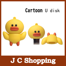 usb flash drive yellow duck u disk1g 2g  usb memory flash stick 4g pendrive 8g 16g pen drive 16g 32g u disk free shipping