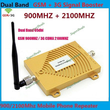 Indoor Antenna + Dual Band GSM 3G Repeater GSM 2G 900MHz  3G 2100MHz UMTS Mobile Cell Phone Signal Repeater Booster Amplifier