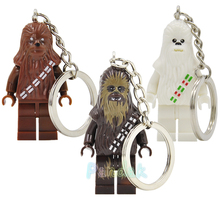 XH199 Chewbacca Keychain Star Wars VII Single sale The Force Awakens For Key Custom Ring DIY Chain Building Blocks Toys