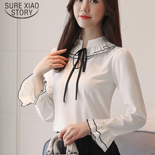 Buy new arrived 2018 spring blouse women chiffon blouse female long sleeve shirt office lady fashion slim bottoming D483 30 for $11.37 in AliExpress store