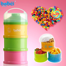 Buy 3 Layer Baby Infant Feeding Milk Powder Milk Container Storage Feeding Box Food Bottle Contain Pink+Yello+Green BM88 for $4.57 in AliExpress store