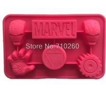 F009 Iron man figure Silicone Mold Cake Decoration Fondant Cake 3D Food Grade Fondant tools