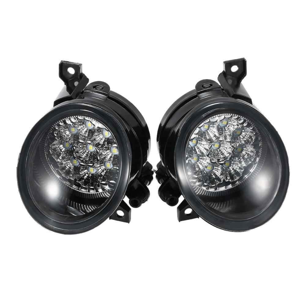 Pair of 9 LED Fog Light Bright White Lamp Left &amp; Right for VW GOLF GTI MK5 JETTA 2005-2009<br>
