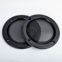 "2pcs/set New 2"" inch Tweeter Audio Speaker Cover Decorative Circle Metal Mesh Grille Trim Car-covers For Universal Cars"