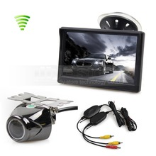Wireless 5 Inch TFT LCD Display Car Monitor with Waterproof Night Vision Security Metal Car Rear View Camera