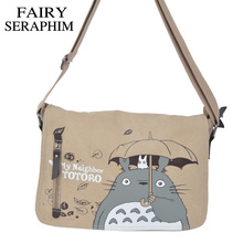 FAIRY SERAPHIM 2017 Anime My Neighbor Totoro Messenger Canvas Bag Shoulder Bag Sling Pack My Neighbor Totoro Bag Cosplay(China)