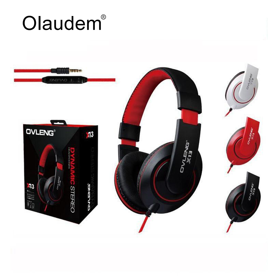 Headphones Earphone Headset Stereo Wired Head Phone with Microphone for MP3 Game Computer PC Mobile Headphone Earphones X13<br><br>Aliexpress