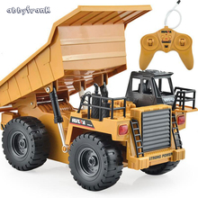 Remote Control Car 2.4G RC Truck Engineering Vehicles Truck Dump Truck Tipper Multi-function Diecast Car Alloy Toys For Children