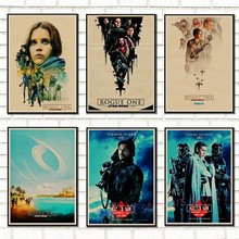 Classic Star Wars poster of vintage art classic family decorated movie RogueOne Star Wars kraft poster wall sticker / 5003(China)