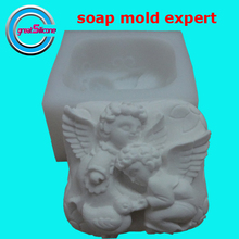 Great-Mold Lovely Angel Soap Molds Handmade 3D Silicone Mold for Fragrance Soap Making