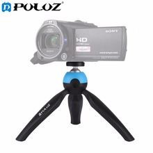 PULUZ Portable Pocket Mini Tripod Mount with 360 Degree Ball Head for GoPro Smartphones DSLR DV Video camera(China)