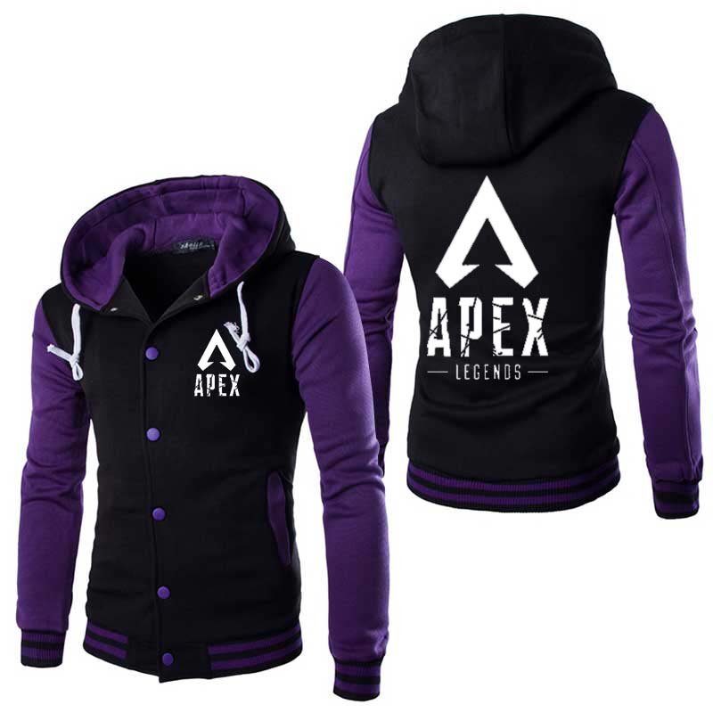 COYOUNG High Quality Design Stylish Games Apex leyendas Hoody Mens Cosplay Hoodies Cool Slim Baseball Jacket Costume Coat