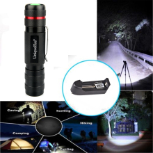 Charger+Brightest Professional CREE XML-T6 LED Flashlight High Quality 5 Modes Zoomable Lanterna Torch Lighting For Camping