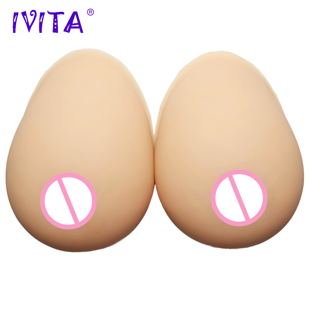 IVITA 3200g/Pair Beige Realistic Silicone Breast Forms Fake Boobs False Breasts Mastectomy Crossdresser Shemale Bra Drag Queen