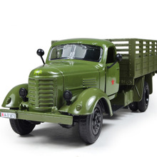 1:36 Pull Back Acousto-optic Toys for kids Alloy Antique Car Model for faw Army Jeep Carrier Vehicle Boy Best Gift(China)