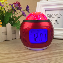 Small clock Color-Change Multipurpose Digital LED Projector kids Alarm Clock Nightlight electronic Small clock Romantic full