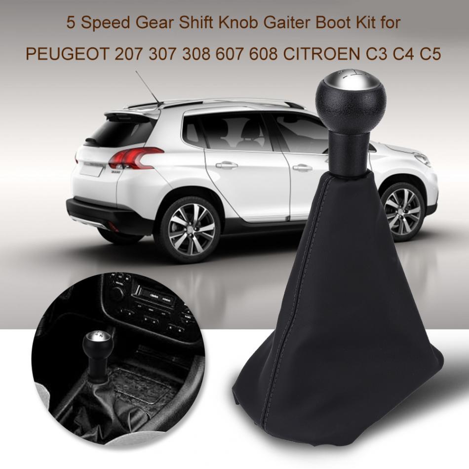 Peugeot Citroen Gear Shift Knob Sleeve Manual Transmission Pair