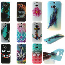Style luxury For HTC M8 case soft TPU material made of diverse styles the latest casual Mobile Phone Cases for HTC M8 SHELL