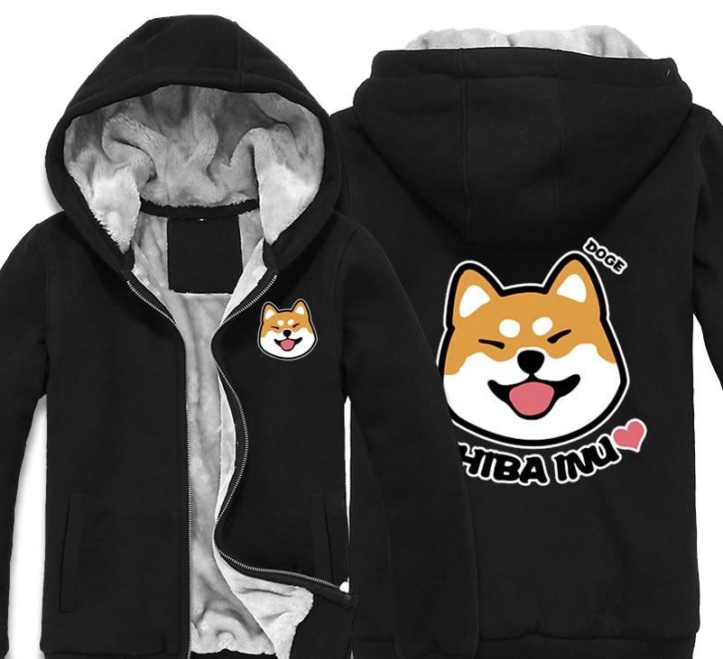 Japan Anime Doge Shiba Inu Thick Fleece Mens Outwear Big Yards Cotton Hoodie Coat Jacket Parkas WarmОдежда и ак�е��уары<br><br><br>Aliexpress