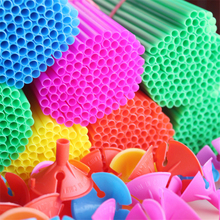 10sets/lot 42cm Latex Balloons Stick Colorful PVC Rods For Party Balloons Decoration Holder Sticks With Cup Balloons Accessories
