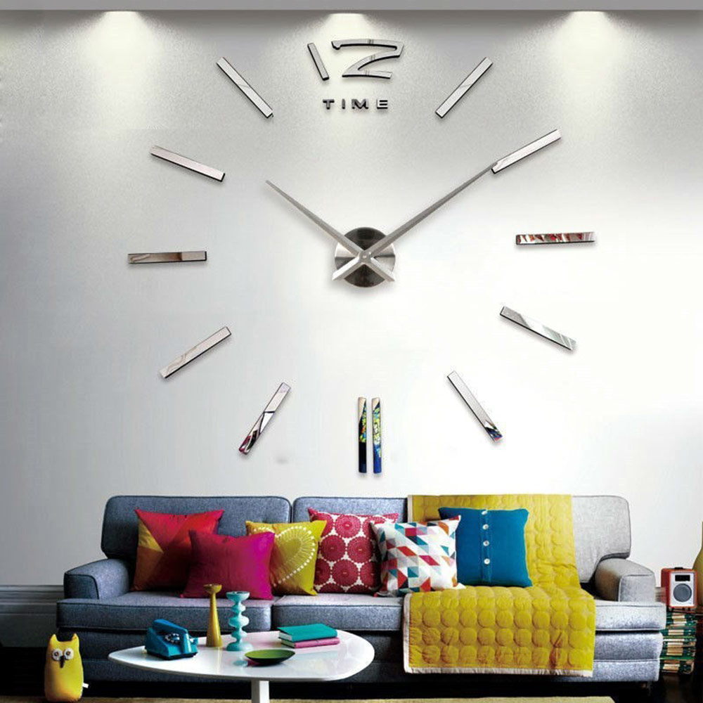 Часы на всю стену своими руками фото