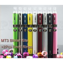 Pilot Vape MT3 Starter Kit +2 EVOD Rings Electronic Cigarette Blister Pack Rechargeable Battery MT3 Atomizer Charger E Cig Kits(China)
