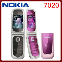 7020 Original Unlocked Nokia 7020 cell phone Bluetooth 2MP camera MP4 Player with  English keyboard and Russian keyboard