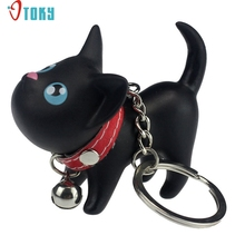 Key Chains OTOKY Gussy Life wholesale fashion Hot Cat Keychain Keyring Bell Toy Lover Key Chain Rings Chaveiro Dec623