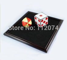 Dice to ball tray - Stage magic trick, dice magic,dice disappearing,mentalism,close up