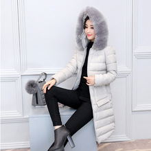 2017 new autumn and winter coat female slim ladies fur collar cotton grow manufacturers selling 886 paragraph(China)