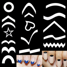 15 Style/Set Nail Art French Styling Guide Stickers Gel Polish Tips Smile Line Transfer Easy Drawing Painting Printing Decal Kit