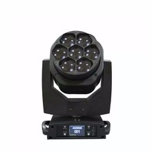 Free Shipping professional THD 7*15W LED mini moving head wash light DMX DJ zoom B-eye 4 in1 RGBW   stage  light