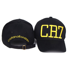 2016 Cristiano Ronaldo CR7 Black navy Baseball Caps hip hop Sports Snapback Football hat chapeu de sol swag Men women
