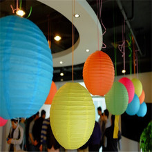 10 Pieces 6-16 inch Chinese Paper Lantern Paper Lampion Ball For Party Wedding Decoration Supplies White Pink Red Yellow