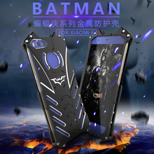For Xiaomi Mi5 Case Luxury Metal Aluminum Cover Heroes The Dark Knight Batman Element Case For Xiaomi 6 5s plus MAX Note2 R-just(China)