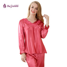 Yuzihua 2017 Womens Silk Pajamas Sets Pyjamas Women Pajamas For Women Pijamas Mujer Pijamas Para As Mulhere Pyjama Satin Pijama