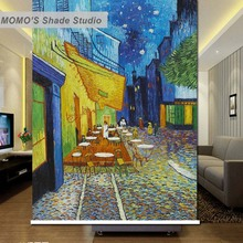 MOMO Blackout Van Gogh Window Curtains Roller Shades Blinds Thermal Insulated Fabric Custom Size, Alice 564(China)