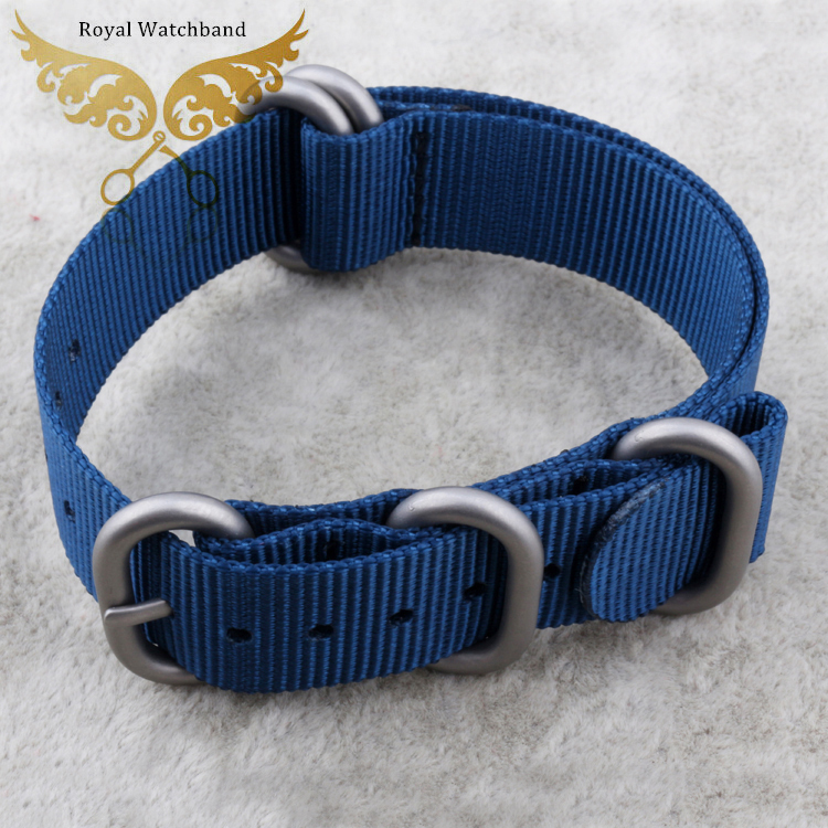 Casual Fashion New High Quality Watchbands Bule 18mm 20mm 22mm 24mm Sport Zulu Nylon Canvas Watch Straps Silver PVD Buckle Clasp<br><br>Aliexpress