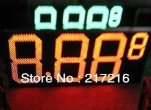 P16 led gas sign price changers oil display for diesel single side 24inches red or amber with remote controller(China)