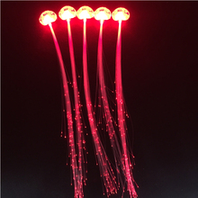 Fashion 12pcs Red Color Light LED Hair Braid Clip Hairpin Flash Light Up Birthday Neon Party Christmas Supplies For Kid Adult(China)